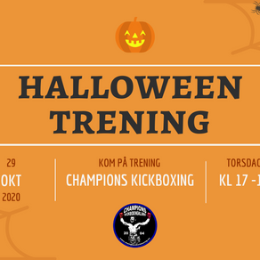 Halloween-trening for barn