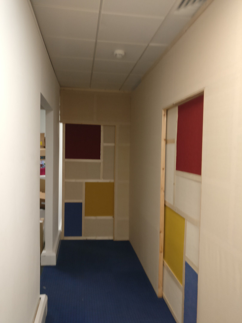 Office partitioning and slide door