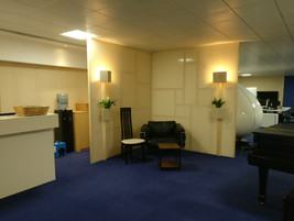 Office partitions and lighting