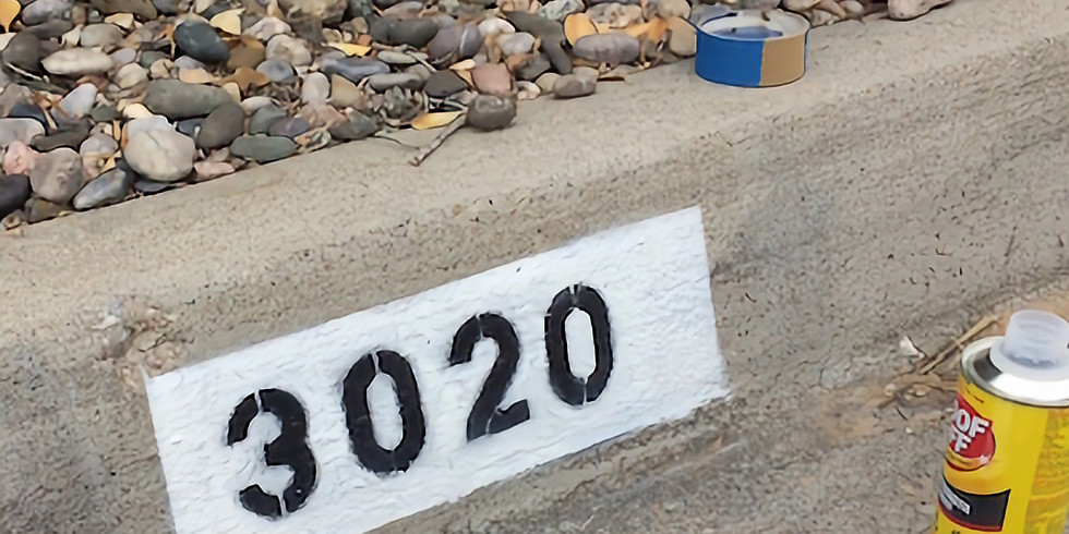 Curb Address Painting