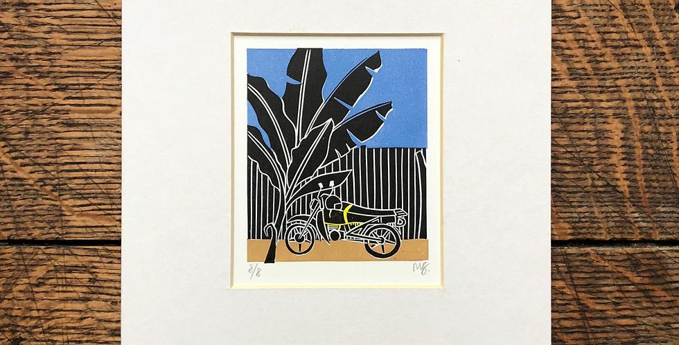 Bodaboda (motorbike) print with mount