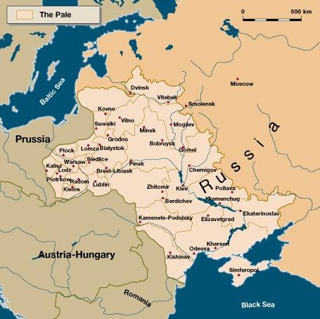 Empiree russe, la zone de résidence, The Pale of Settlement Russina Empire