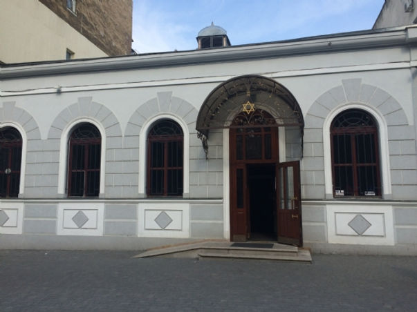 "The Chabad synagogue  ""Shomrei Shabbat"" was built over 100 years ago. It was built thanks to the donation of ""Malbish arumim"" The inhabitants of Odessa have jokingly called it ""the tailor's synagogue"""