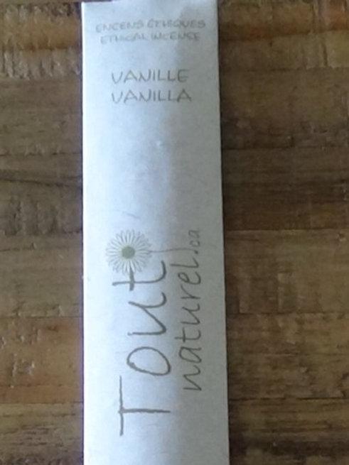 Vanille, encens éthique- tout naturel