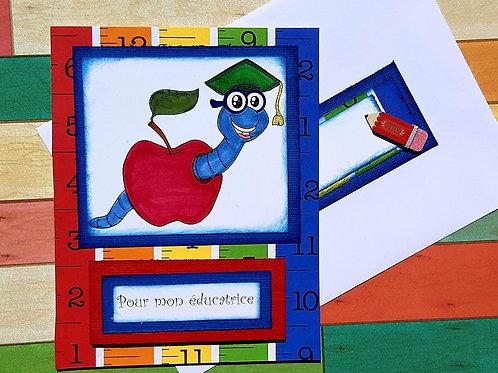 Carte pour éducatrice