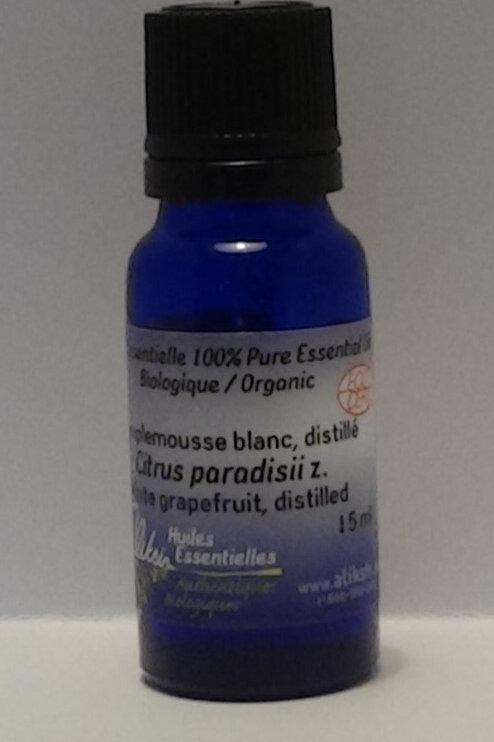 Pamplemousse blanc, zeste (Citrus paradisii z.)huile essentielle 15 ml