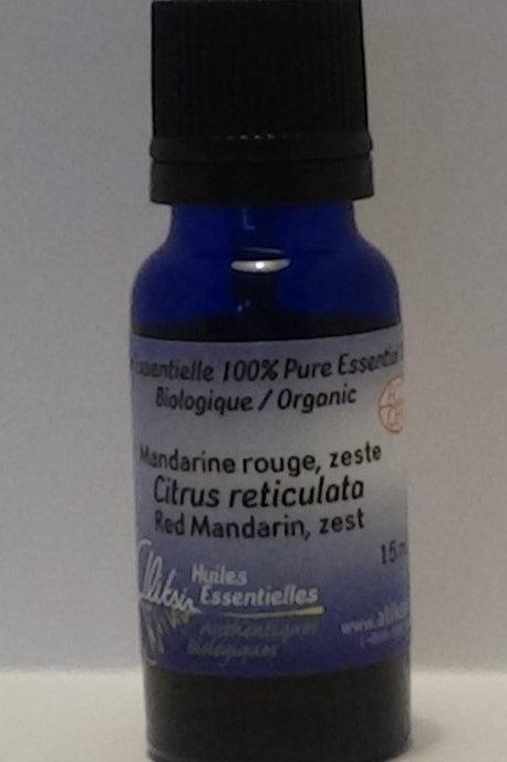 Mandarine rouge, zeste (Citrus reticulata) huile essentielle 15 ml