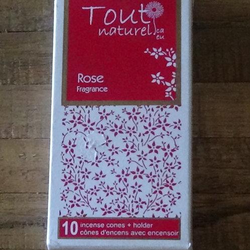 Rose, encens -tout naturel
