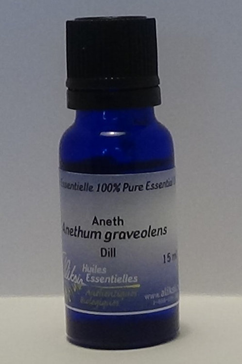 Aneth (anethum graveolens) huile essentielle 15 ml