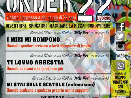 """Tre eventi UNDER 22 alla pizzeria """"Milky Way"""", via Grande 43 (LI)"""