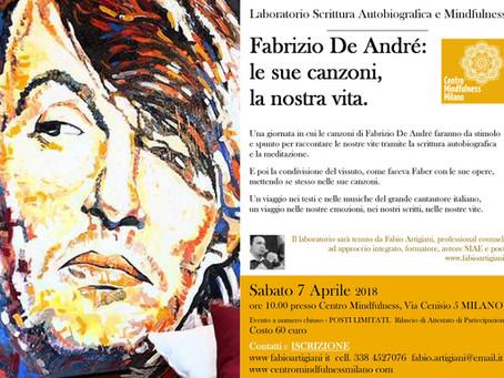 Fabrizio De André: le sue canzoni, la nostra vita.   MILANO