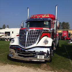 A truck on display
