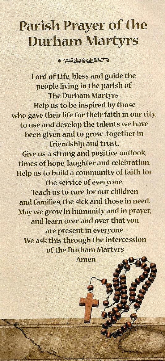 Parish Prayer of the Durham Martyrs
