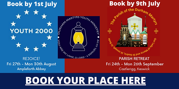 Photo link showing dates, places and times for Youth 2000 and Parish retreats in 2021.