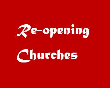 Reopening of Churches from 9th Feb