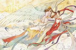 Angel and Apsara