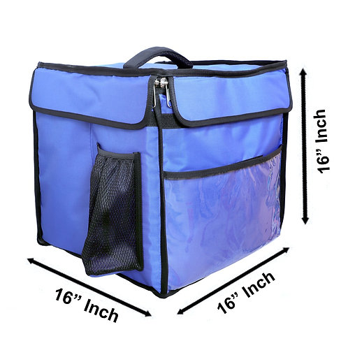Insulated food Delivery bag Meal Delivery Bag Cake Delivery Bag (Blue)