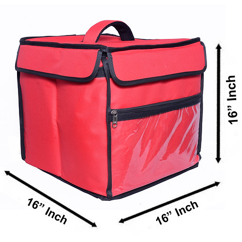 Insulated food Delivery bag Meal Delivery Bag Cake Delivery Bag (Red)