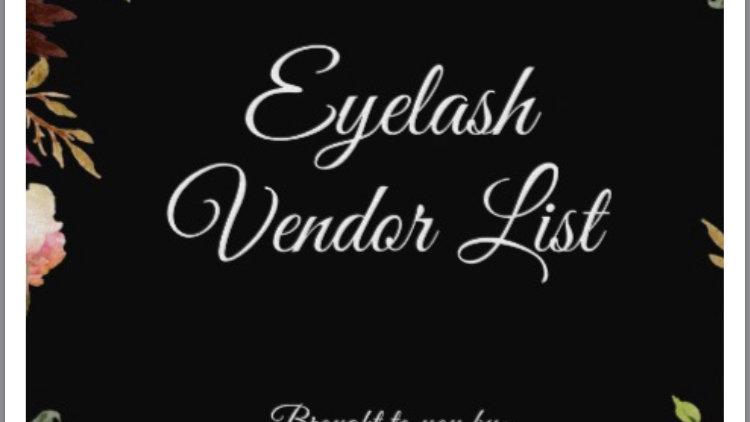 Wholesale Eyelash Vendor List