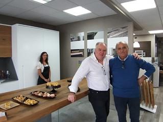 Spazio Ceramica Roma associato REA inauguarazione Cucine TOFFINE  realizzate a mano