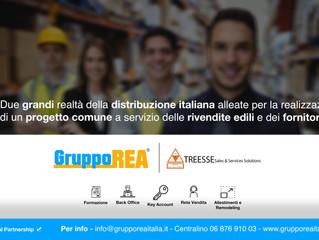 GRUPPO REA ITALIA & TREESSE             un sodalizio che evoca una robusta partnership nazionale
