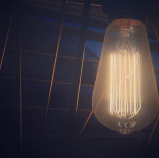 Edison Bulb at Dusk