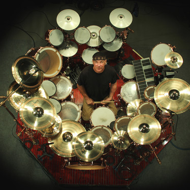 Neil Peart and his Time Machine kit