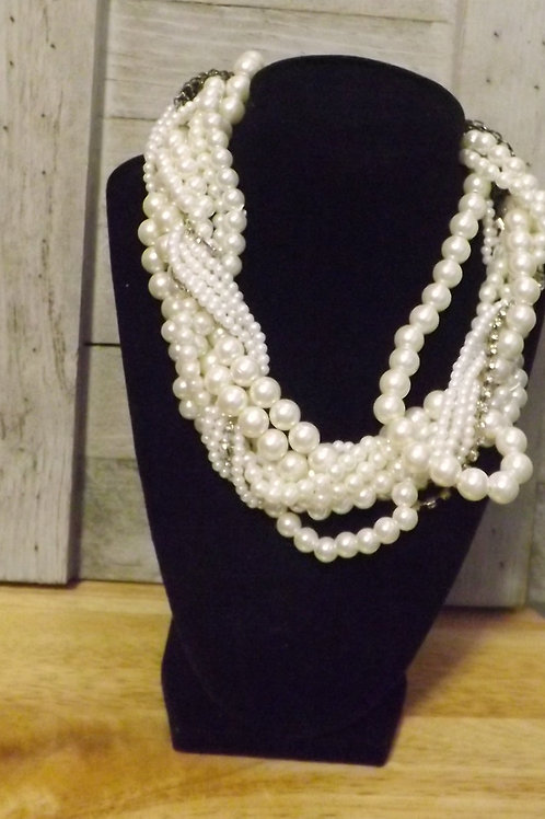 Short White Necklace