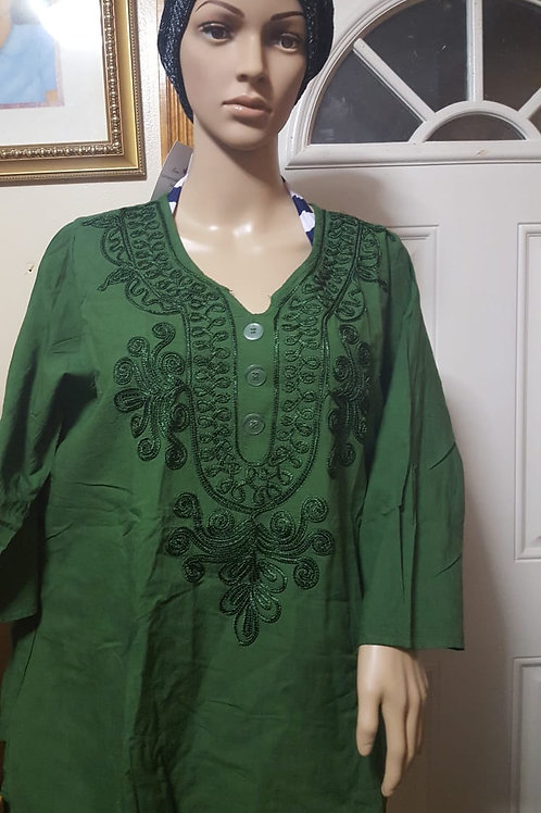 Green Mexican Blouse ( 1 Left)