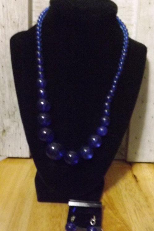 Blue Necklace & Earrings- 1 Left
