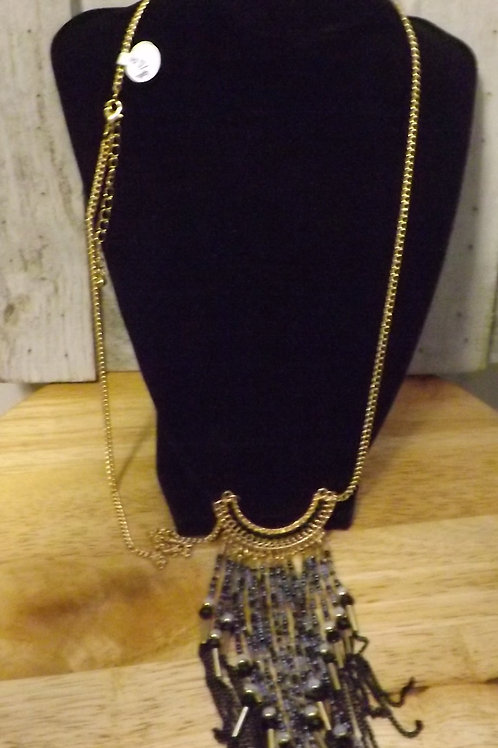 Long Golden Indian Necklace