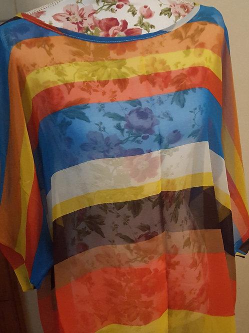 See through Rainbow Blouse- 1 size ( 1 Left)