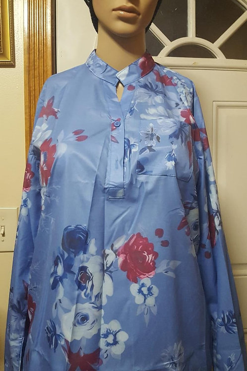 Long sleeves blouse (Size M) - Blue