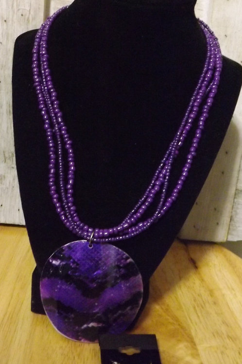 Purple Necklace & Earrings-Out of Stock