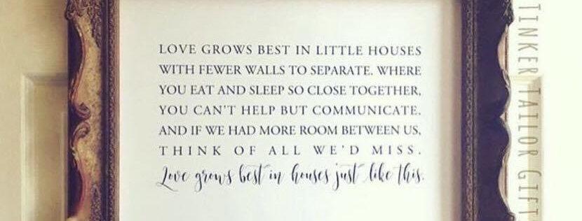 """Love Grows Best..."" - Print Only - (Not Framed)"