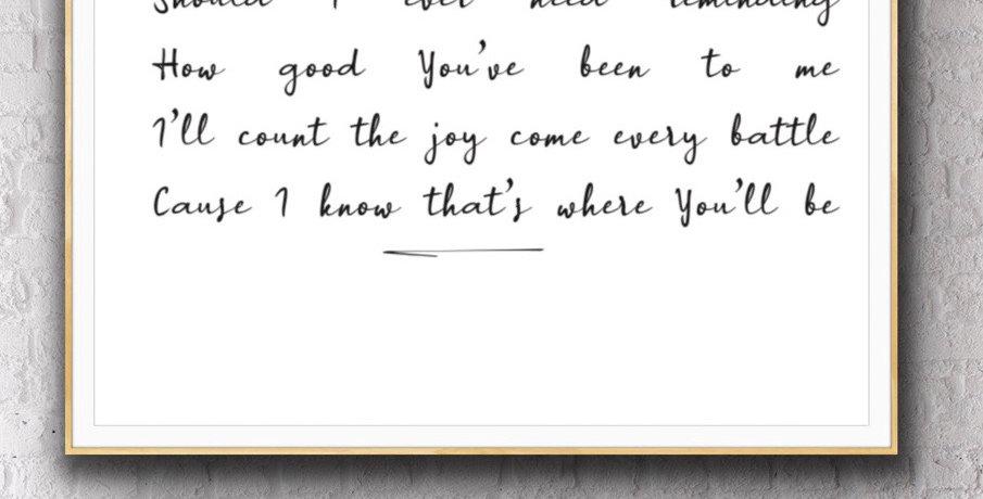 Hillsong Lyrics Print