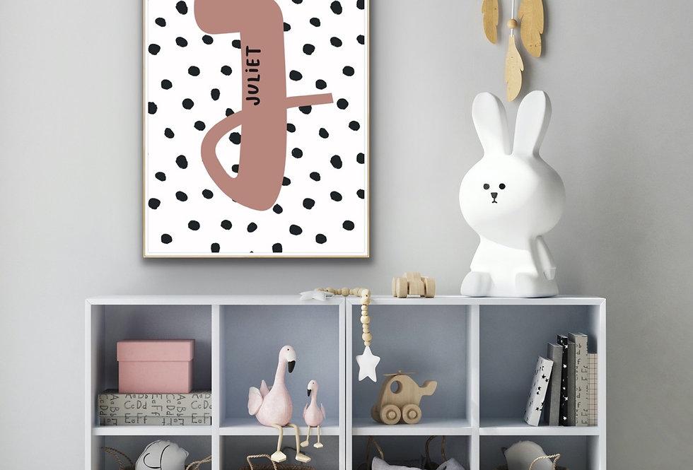 Initial Kids Print