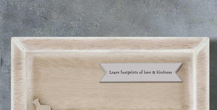 East of India 'Leave Footprints' Standing Box Frame