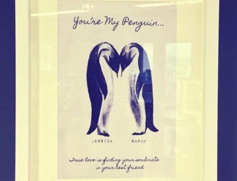 Penguins Love Print