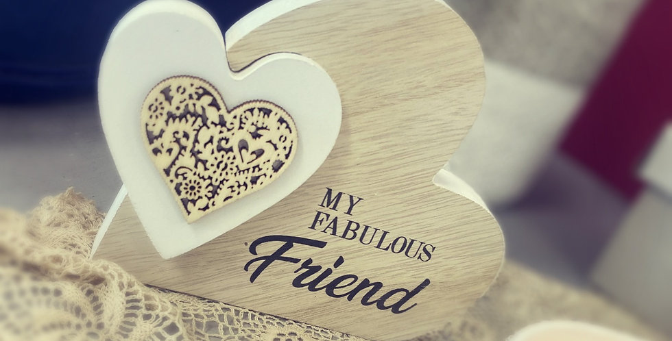 'My Fabulous Friend' Natural Toned Side Heart Block