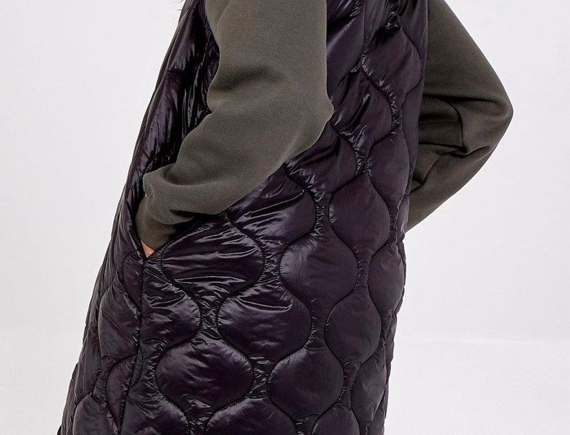 LOVE Puffer Sleeveless Jacket / Long