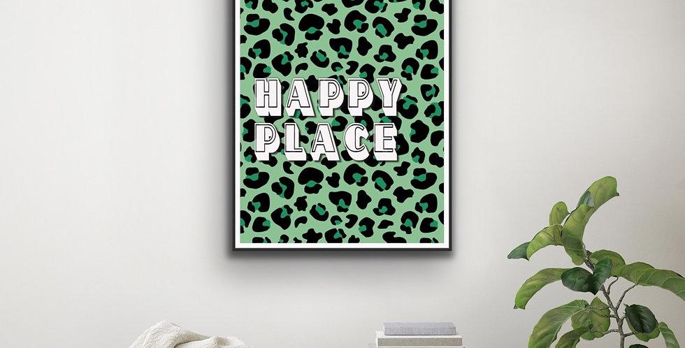 Happy Place Leopard Print