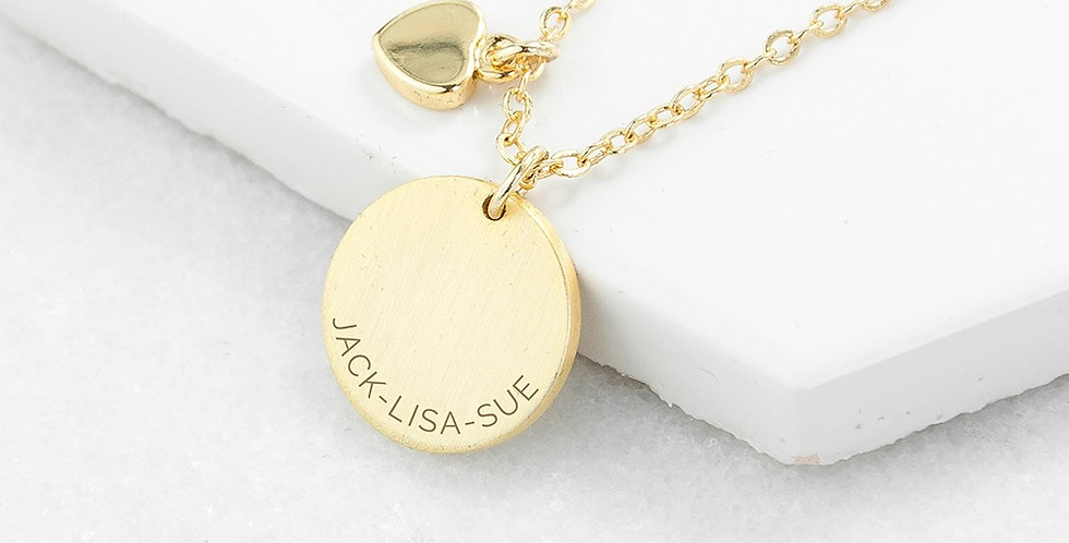 My Whole Heart Family Necklace