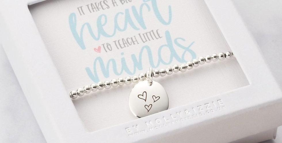 Teacher Big Heart Bracelet
