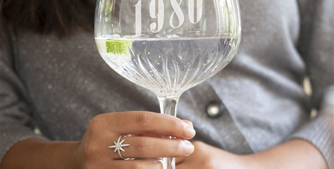 A Year To Remember Crystal Cut Gin Glass