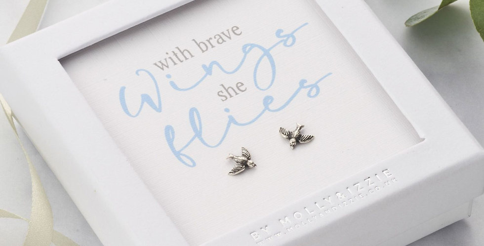 With Brave Wings Earrings