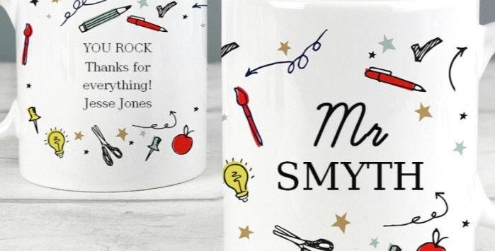 Customised TEACHER mug