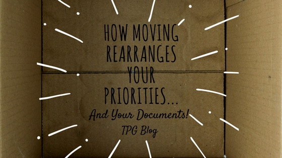 How Moving Rearranges Your Priorities...and Your Documents!