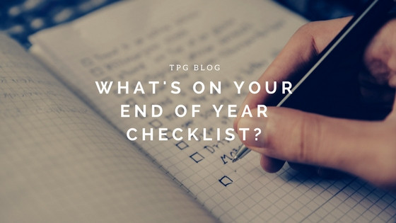 What's On Your End of Year Checklist?
