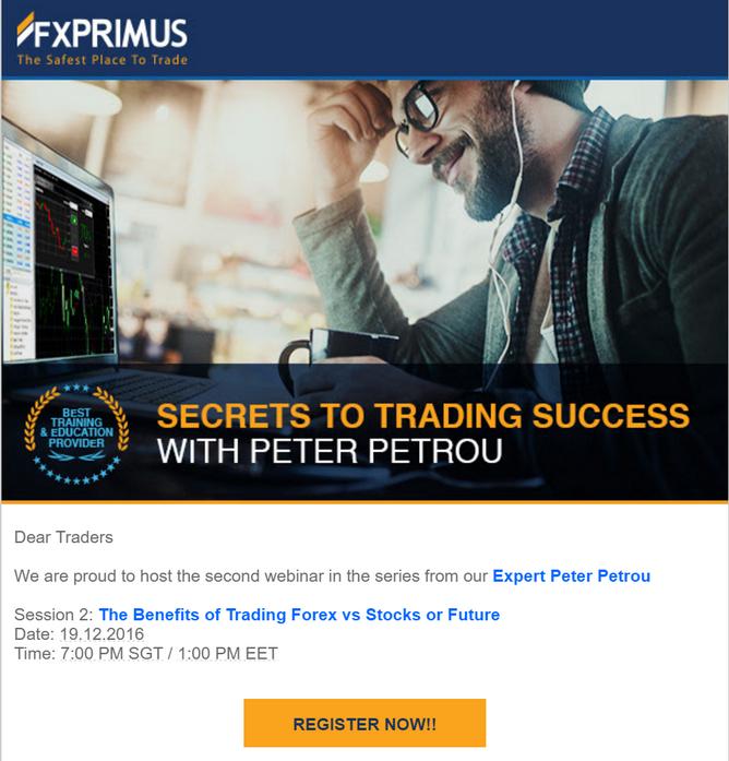 Learn then earn ... FREE 2 webinars from FXPRIMUS FIB